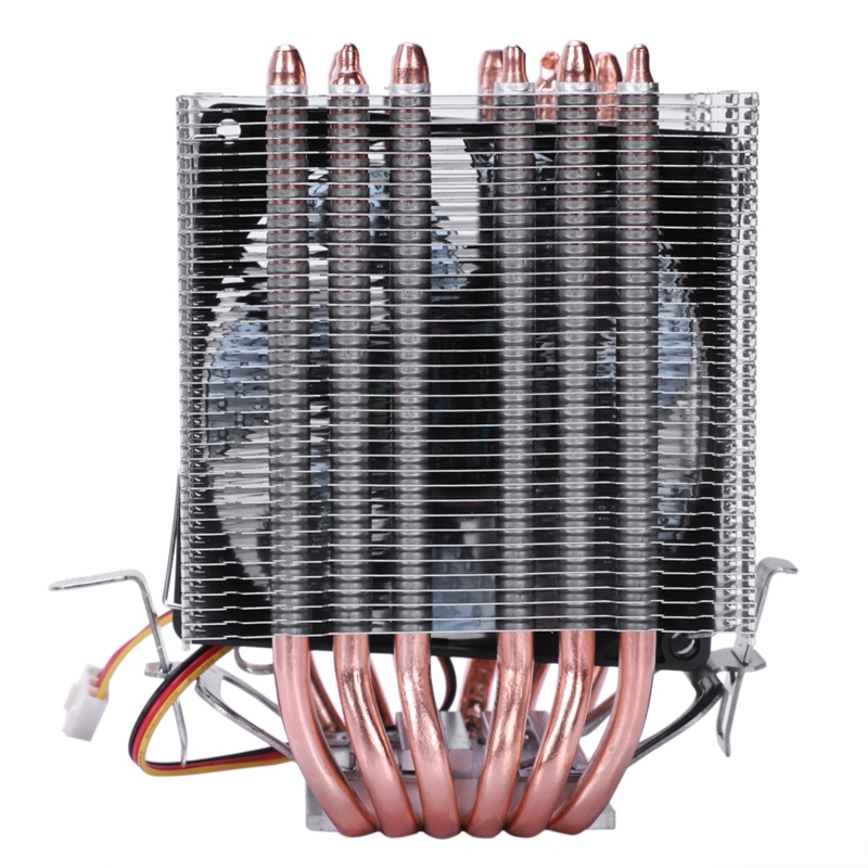 Lanshuo 6 Heat Pipe 3 Wire With Light Single Fan Cpu Fan Radiator Cooler Heat Sink For Intel Lga 1155/1156/1366 Cooler Heat Si