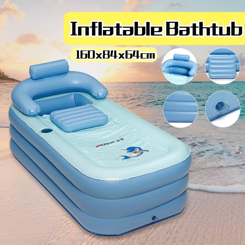 160x84x64cm PVC Folding Portable Big Inflatable Bathtub/Pools for Children Adults Bath Enjoy Life Air Pump Spa Household Bathtub160x84x64cm PVC Folding Portable Big Inflatable Bathtub/Pools for Children Adults Bath Enjoy Life Air Pump Spa Household Bathtub