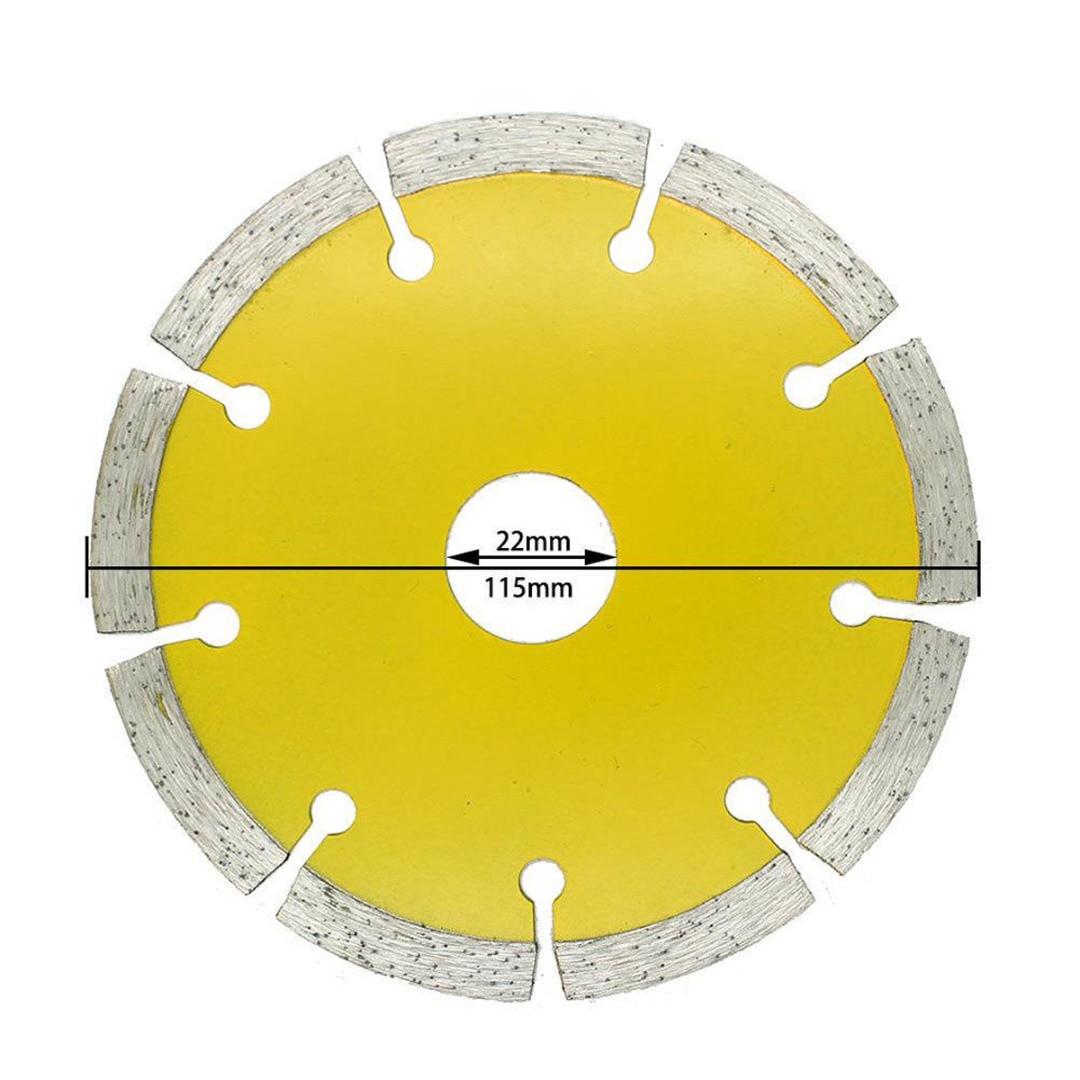 Mayitr 1pc 115mm Diamond Saw Blades Circular Saw Blade Dry Cutting Disc For Concrete Ceramic Brick Marble Stone Saw Tool