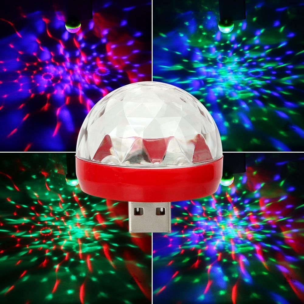 USB Club Disco Magic Stage Effect Lights Car LED Atmosphere Lights DJ RGB Lamp Decorative Lamp Car-styling Auto Interior Lights