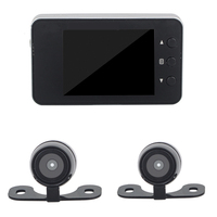 Motorcycle DVR Dash Cam Full HD 1080P + 720P Dual track Front & Rear View Motorcycle Camera Black Recorder Box