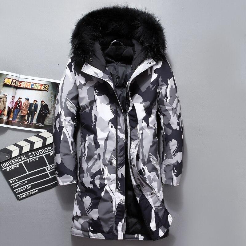 47d14d86 Hvite Lang Camouflage Mensjakke Windbreaker As Krage Dunjakke Tykk Vinter  Menn Duck Ekstra Topp Picture Picture ...