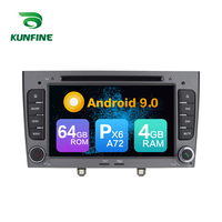 Android 9.0 Core PX6 A72 Ram 4G Rom 64G Car DVD GPS Multimedia Player Car Stereo For Peugeot 308 2008 2009 2010 radio headunit