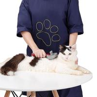 Adeeing Professional Waterproof Pet Grooming Staff Gown Anti static Dog Cat Apron Half Sleeve