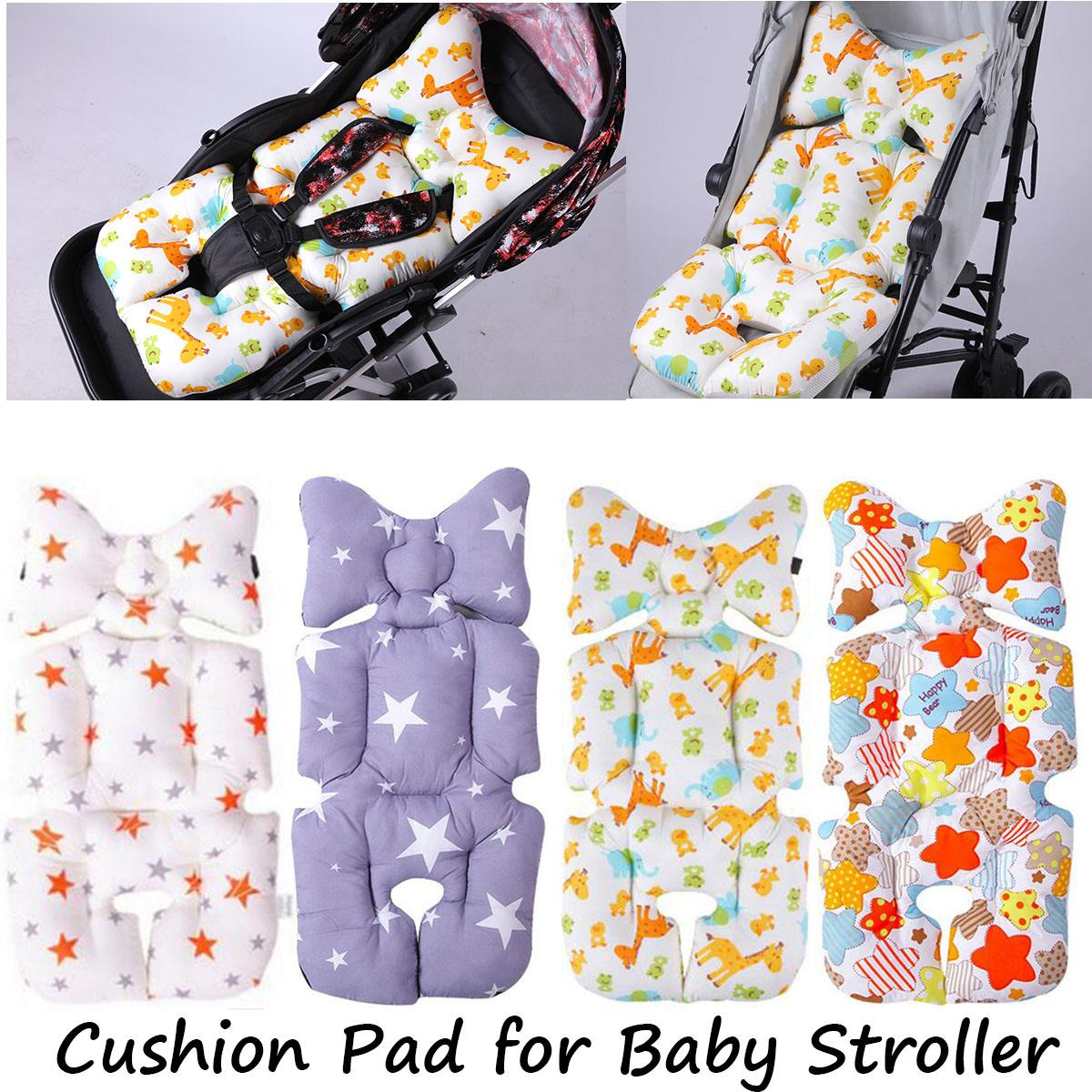 Mother & Kids Baby Stroller Cotton Cushion Seat Cover Mat Breathable Soft Car Pad Pushchair Urine Pad Liner Cartoon Star Mattress Baby Cart