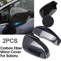 2Pcs ABS Carbon Fiber Car Mirror Covers For Subaru XV 2018 Auto Mirror Cover Replacement Accessories Rainproof Protector