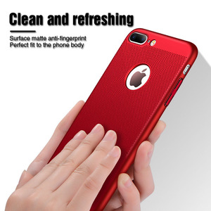 Image 4 - Ultra Slim Phone Case For iPhone 6 6s 7 8 Plus Hollow Heat Dissipation Cases Hard PC For iPhone 5 5S SE Back Cover Coque XS MAX