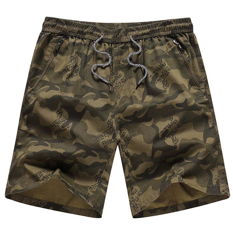 Camouflage   Shorts   Men Hot Casual Zipper Pocket Beach   Shorts   Male Bermuda Masculina Elastic Waist Brand Boardshorts Plus Size 5XL