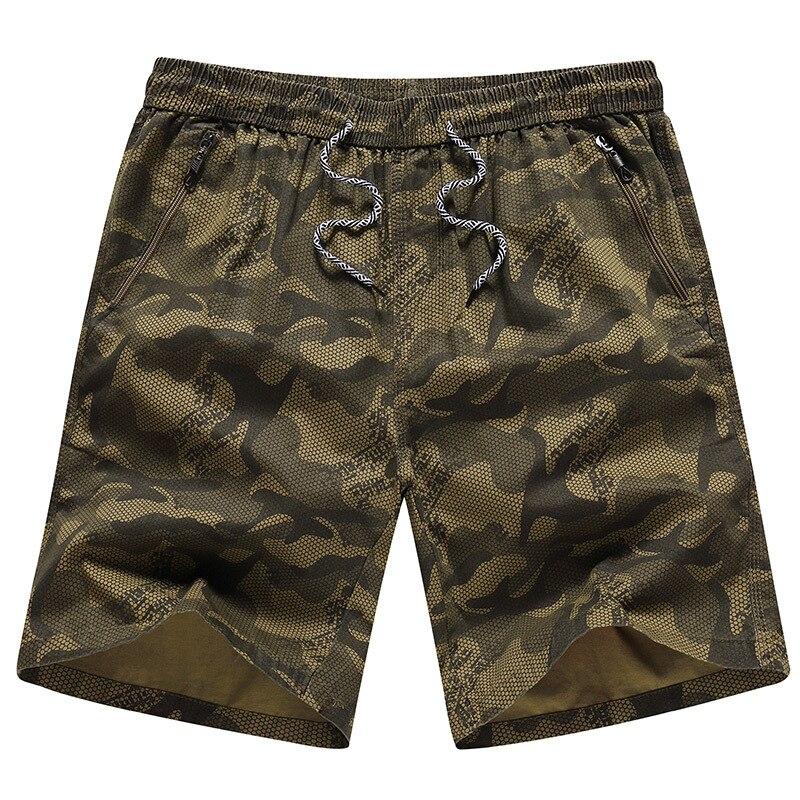 Camuflagem Calções Homens Hot Casual Bolso Com Zíper Elástico Na Cintura Calções de Praia Masculino Bermuda Masculina Marca Boardshorts Plus Size 5XL