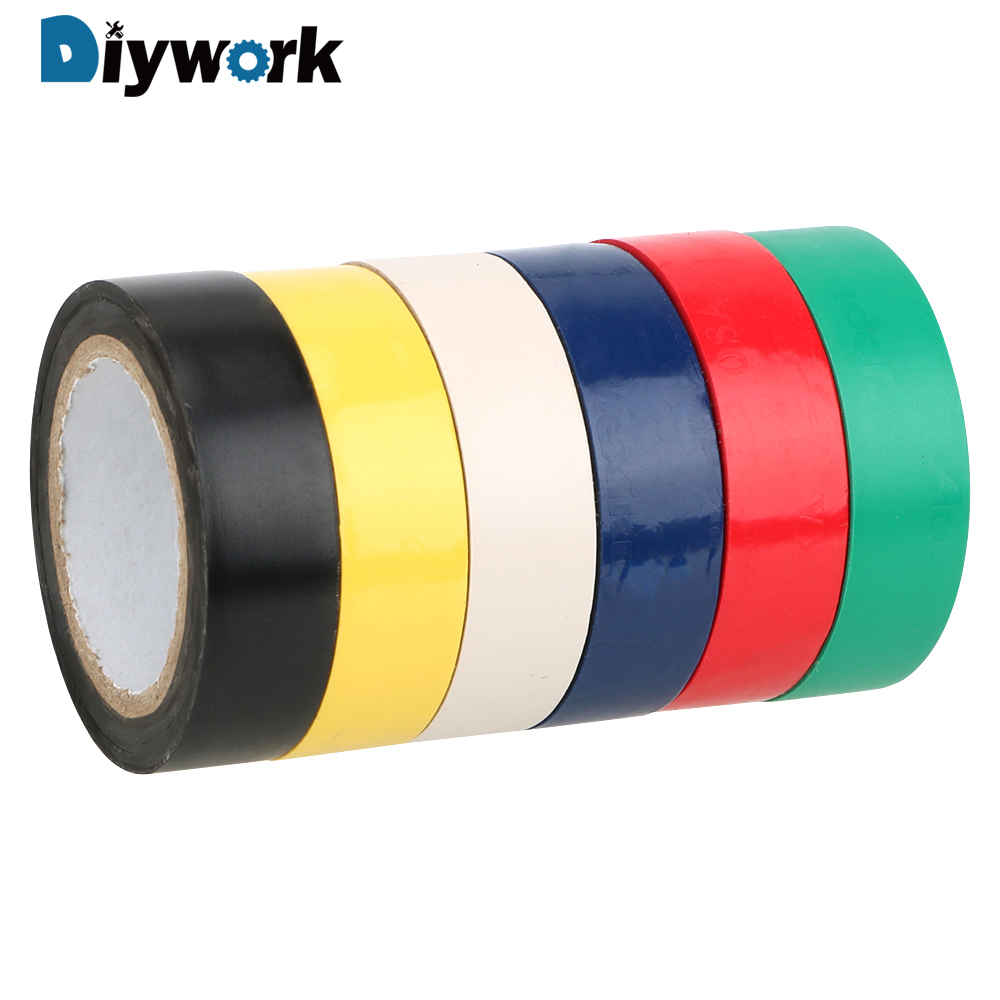 DIYWORK 16mm*10m  Electrical Tape PVC Waterproof High-temperature Tape Insulation Adhesive Tape