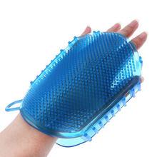 1 шт случайный цвет мягкий силиконовый массажный скраб перчатки для пилинга тела ванна щетка отшелушивающие перчатки щетка для ног щетка для тела