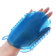 1Pcs Random color Soft Silicone Massage Scrub Gloves For Peeling Body Bath Brush Exfoliating Gloves Footbrush