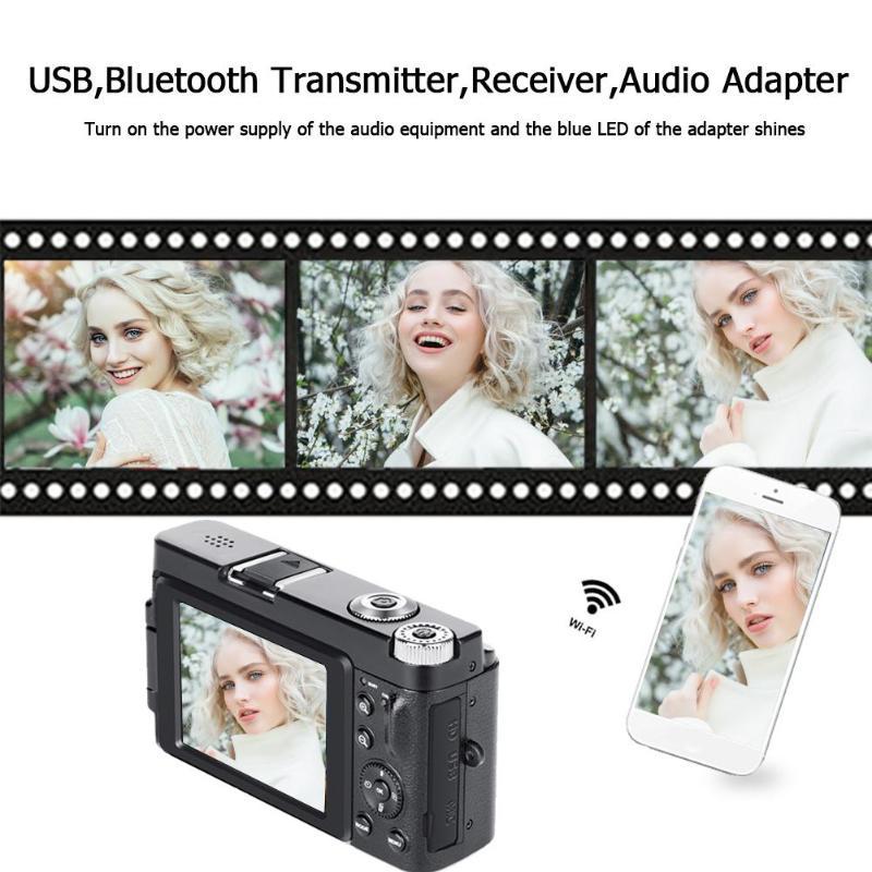 Профессиональная цифровая камера 3,0 дюйма lcd 24 миллионов HD Цифровая видеокамера с откидной крышкой камера 16X зум Камера Sup wifi 128G SD - 2