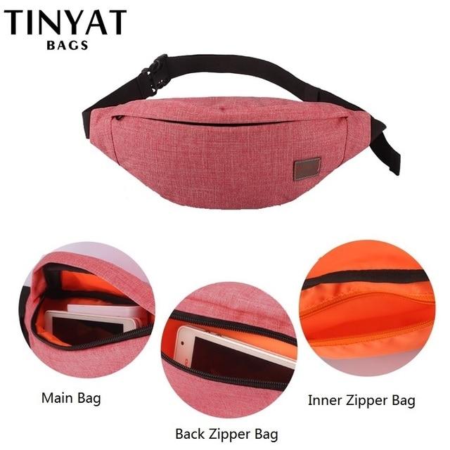 TINYAT Casual Waist Bag  1
