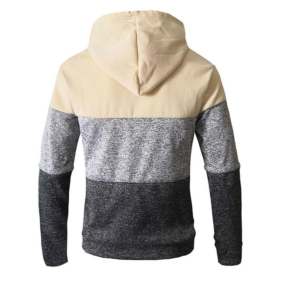 2020 Autumn Winter Men Zip Up Casual Elastic Sweater Coat Tops Jacket Outwear Sweater Jogger Zipper Men Warm Hoody Sweatercoat 6