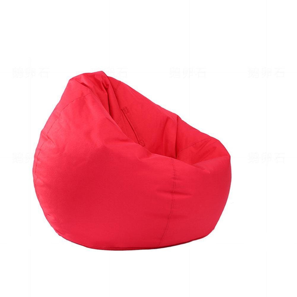 Faul Wasserdichte Stofftier Lagerung Sitzsack Oxford Stuhl Abdeckung Zipper Sitzsack Spielzeug Weiche Solide Kausal Baby Sitze Sofa QualitäTswaren