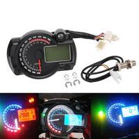 Motorcycle Speedometer Waterproof Digital LCD Gauge Odometer Tachometer Auto Car Universal for bmw e46 bmw e90 bmw e39