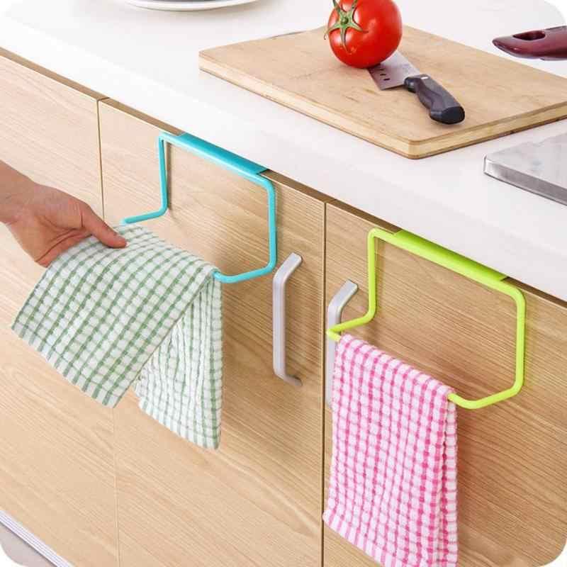 1PC wielofunkcyjny ręcznik łazienkowy Rack drzwi szafki powrót śmieci worek na śmieci przechowywania uchwyt wiszące szafki kuchenne przyrząd kuchenny
