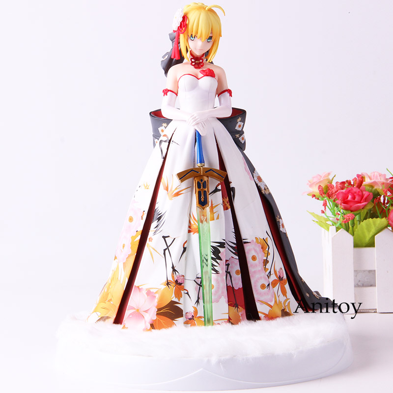 Fate Stay Night Saber Arturia and Altria Pendragon Figure Action PVC Collection Model Toys with LED BaseFate Stay Night Saber Arturia and Altria Pendragon Figure Action PVC Collection Model Toys with LED Base
