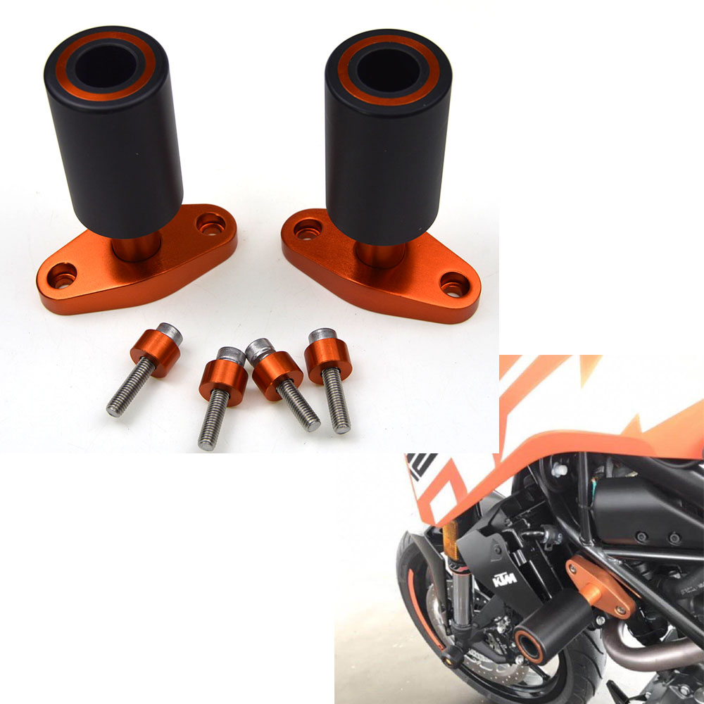 New Orange CNC Frame Sliders Protectors Guard For KTM DUKE 125 200 390 2012 13 14 15 image