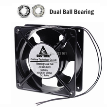5Pcs Gdstime 120x120x38mm Ball Bearing 12CM 120MM AC 220V 240V Computer Case Cooling Fan papst 4656n ac 230v 19w 18w 120x120x38mm server square fan