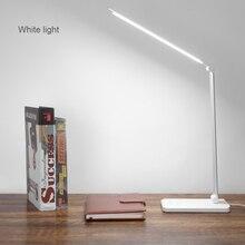 Lámpara de escritorio LED con Sensor táctil luces de lectura de libros regulables alimentadas por USB, 3 luces de brillo ajustables con temporizador de apagado