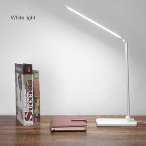 Image 1 - 책상 램프 터치 센서 led 테이블 램프 usb 전원 디 밍이 가능한 책 독서 등 3 밝기 조정 타이머 전원 끄기
