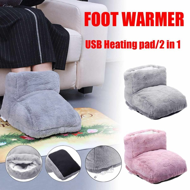 7a6781e75572 USB Electric Feet Warm Slipper Heating Shoes Foot Winter Warming Foot Warmer  Tools with Heating Pad Comfort Washable Office Home