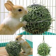 Веселый безопасный Сфера подачи распределяет 8 см Нержавеющая сталь круглые спортивные подвесной для сена мяч Гвинея свинка, хомяк кролик в игрушки для домашних животных