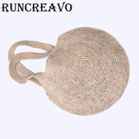 Summer Crossbody Bags For Women 2018 Luxury Handbags Women Bags Designer Famous Brand Ladies Rattan Beach Bag Wicker Straw Bag