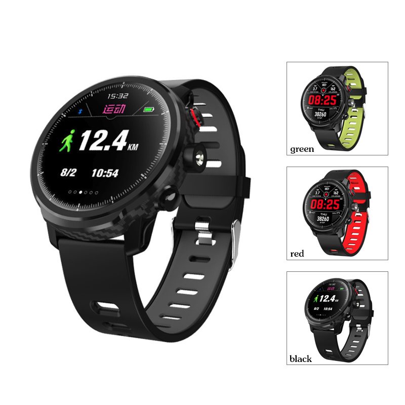 L5 Smart Watch Men IP68 Waterproof Heart Rate Fitness Tracker Message Call Reminder Weather Multiple Sport Smartwatch image