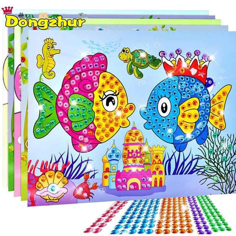 Детские алмазные наклейки для детей, поделки из кристаллов, живопись для детского сада, развивающие мозаичные наклейки, игрушки-головоломки, новые DIY6856A
