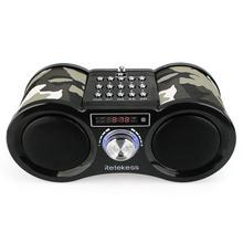 RETEKESS V113 стерео Камуфляж цифровой FM радио USB динамик для карты TF MP3 плеера с дистанционным Управление радиоприемник