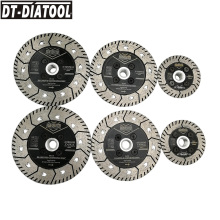 цена на 1pc Dia 75/115/125mm Diamond Dual Cutting Wheel Saw Blades Grinding Disc for Grind Sharpen Granite Marble Concrete M14 or 5/8-11
