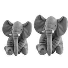 40/60cm Infant Soft Appease Elephant Playmate Calm Doll Baby Appease Toys Elephant Pillow Plush Toys Stuffed Doll Drop Shipping