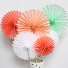 35cm Decorative Tissue Paper Fans Rosette Pinwheel Hanging Decoration Party Wedding Showers Birthday Event Supplies