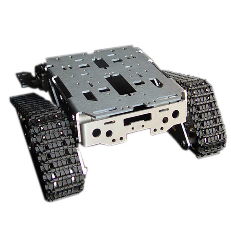 Металлический алюминиевый сплав умный робот танк шасси наборы RC Гусеничный автомобиль Высокое качество интеллектуальные RC игрушки для детей хорошие модели