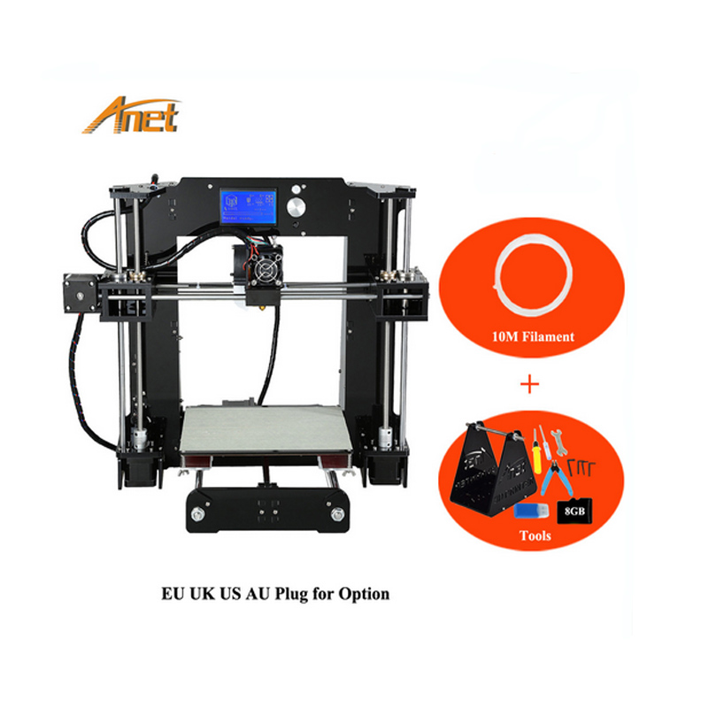 Best selling Anet A6 Arduino 3d Printer 0 4 Nozzle Layer Height Industrial Cheapest 3d Printer