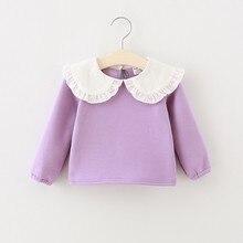 Autumn Winter Plus Velvet Baby Girls Shirts Fashion Lapel Plus Velvet Clothing 1 2 3 4 Years Toddler Girl Candy Colors Kids Tops