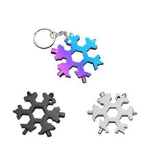 EDC Tool 19-In-1 Snowflake Shape Multi-tool Card Combination Compact Multifunction Screwdriver Stainless Steel Multi Tool Gadget 10 in 1 stainless steel multi tool hammer wood effect