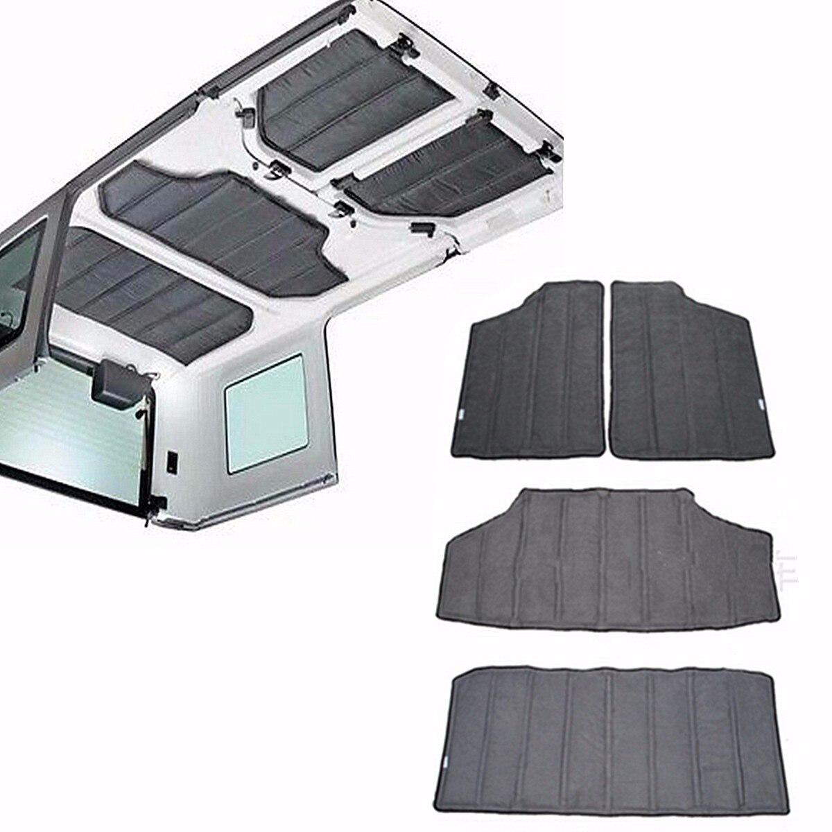 4 pièces Hardtop Son Isolation Thermique Coton Kit 4 Portes Pour Jeep Wrangler JK 2012 2013 2014 2015 2016 Accessoires de voiture
