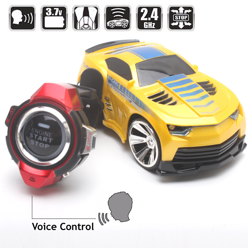 Smart Watch RC Car Voice Command Car Toys With Remote Control Cars Racing Games Toys For Children Potencia Bicicleta Carretera radio-controlled car