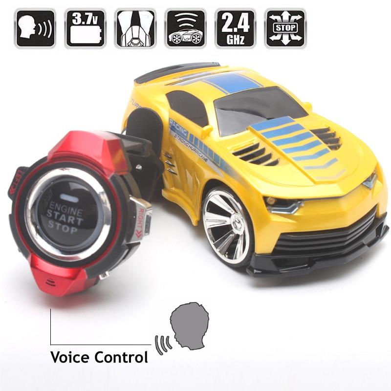 Smart Watch tālvadības pults Auto balss komandas RC automašīnas sacīkšu spēles Carrinho de controle remoto carro controle remoto