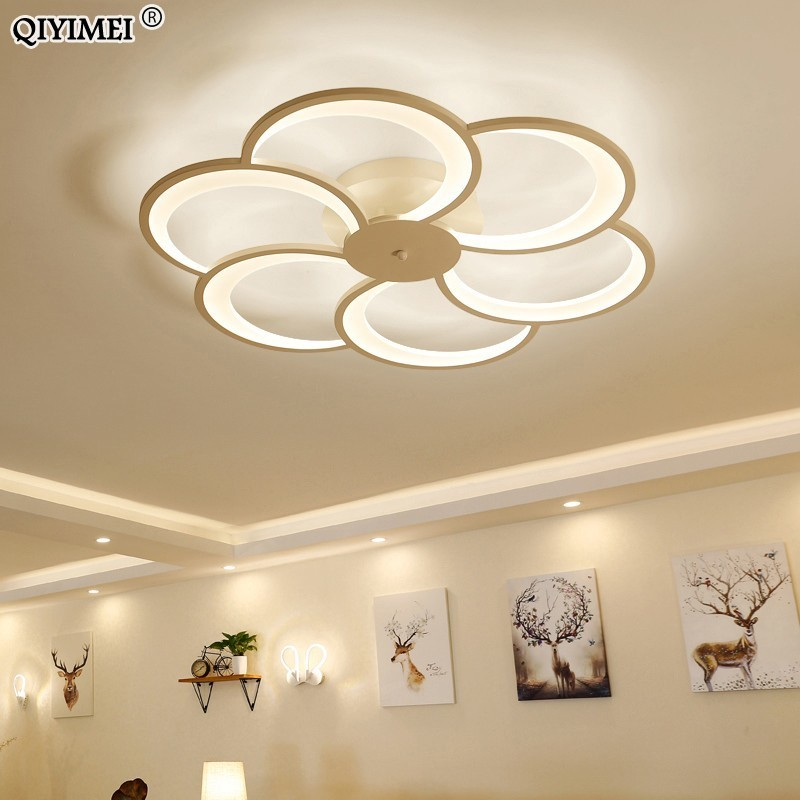 new modern Art Acrylic LED Ceiling Lights Living Room bedroom ceiling lights bedroom Decorative lampshade Lamparas