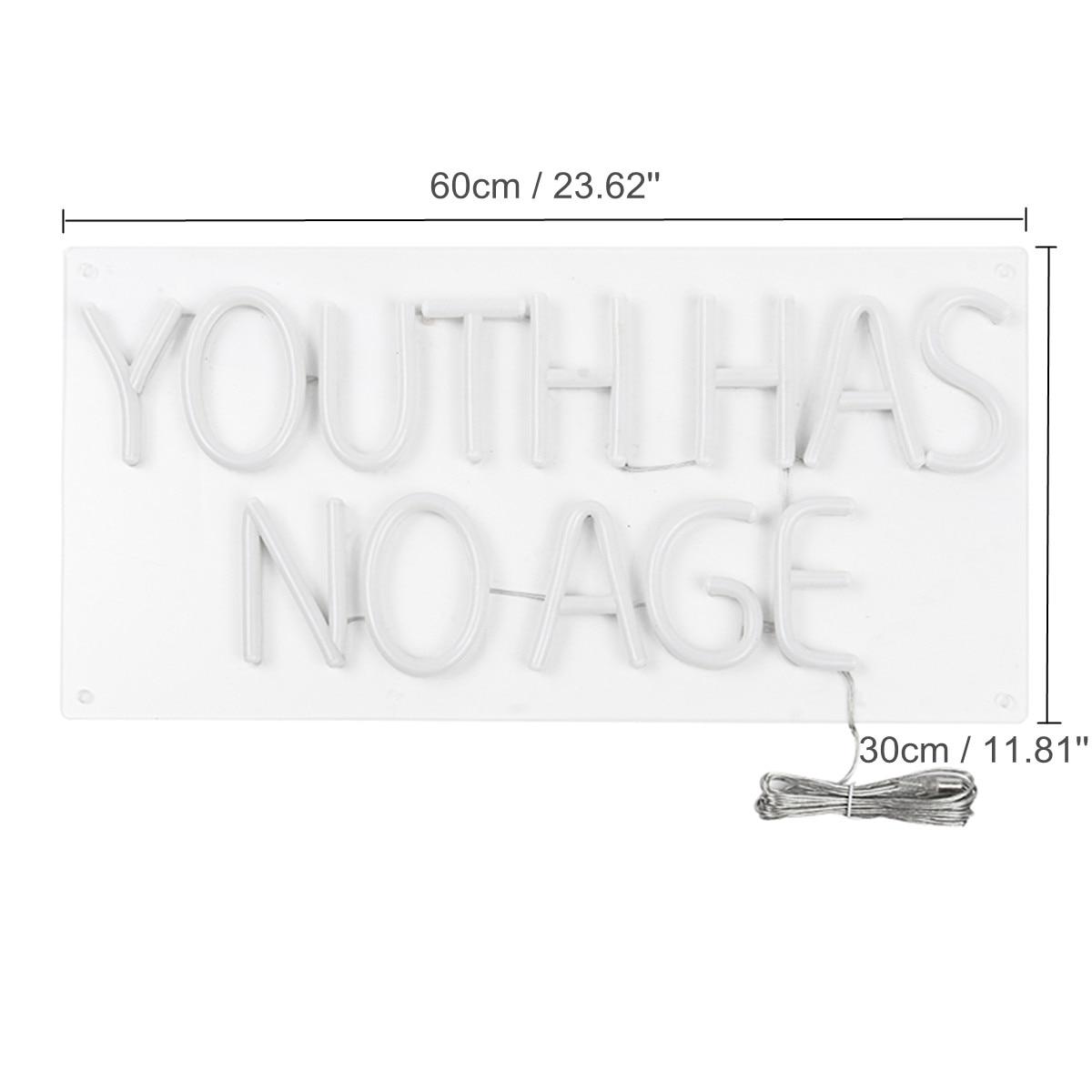 LED jeunesse n'a pas d'âge néon enseigne Tube lampe illustration visuelle Bar Pub Club mur décor lumière conseil maison bureau décoration cadeaux - 4