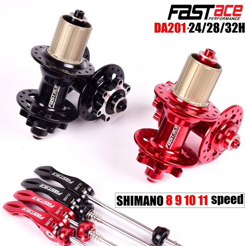 Fastace Hub DA201 haute qualité scellé roulement frein à disque 24 28 32 trous vtt VTT moyeux 8 9 10 11 vitesse moyeu de vélo - 2