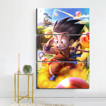 3 Piece Game Poster Art Dragon Ball Z Goku Pictures Cartoon Wall Paintings for Children Room Decor