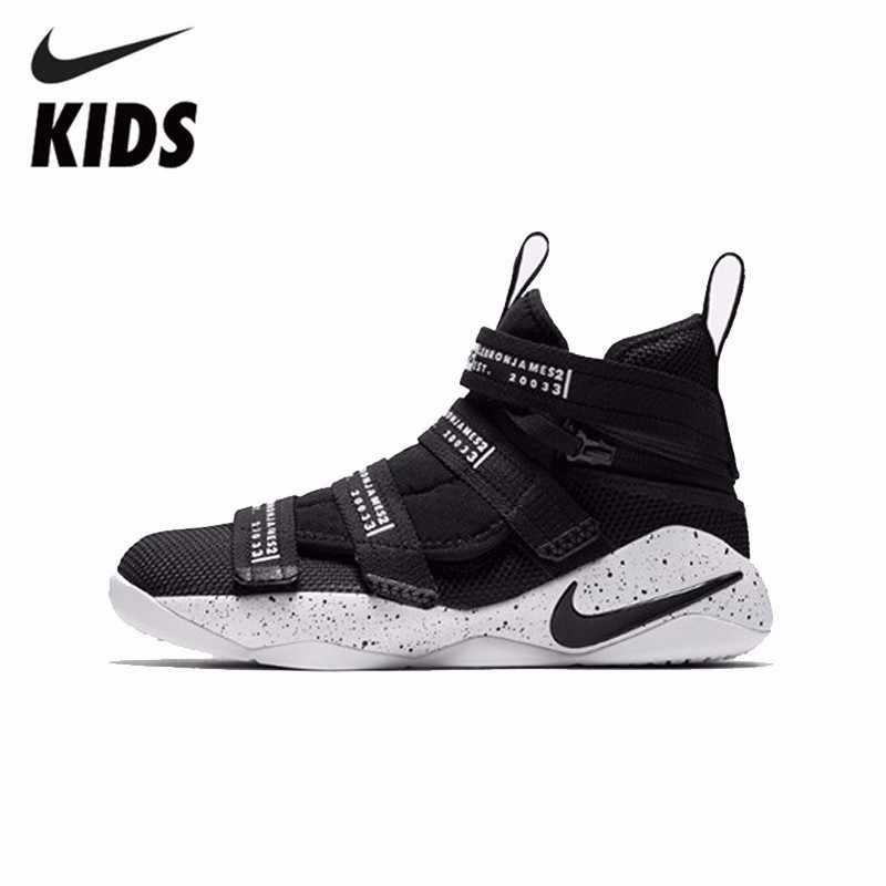 uk availability 28cca 7c145 Detail Feedback Questions about NIKE LEBRON SOLDIER XI FLYEASE (GS) KIDS  New Arrival Original Breathable Anti Slippery Children Outdoor Basketball  Shoes ...