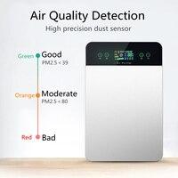 Purificador de aire inteligente eléctrico inteligente purificador de humo HCHO bacterias secador de aire