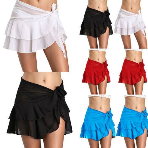 Sexy Beach Cover Up Bikini Swimwear Cover Up Sarong Wrap Pareo Skirt Swimsuit